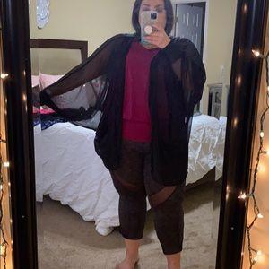 Batwing see through kimono